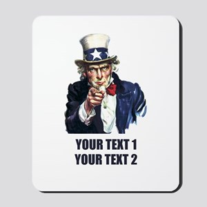 [Your text] Uncle Sam Mousepad